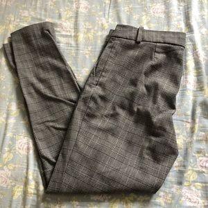H&M Grey Plaid Trousers
